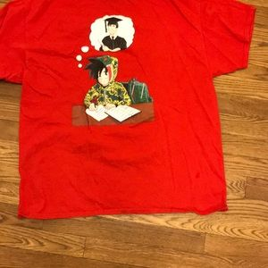 Custom Designed Red Dragon ball Z shirt
